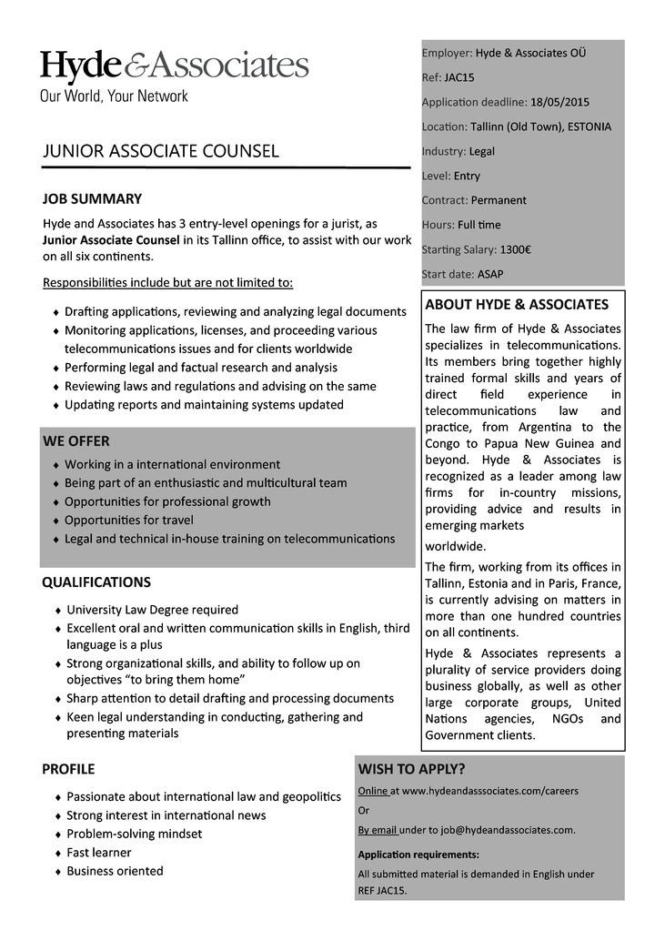 Law Firm Junior Associate