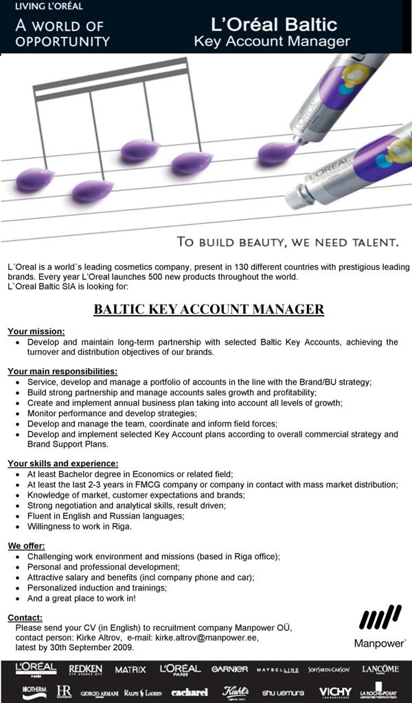 CV Market´s client Baltic Key Account Manager