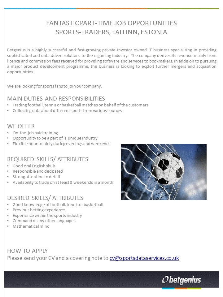 CV Market´s client Part-Time Sports Traders