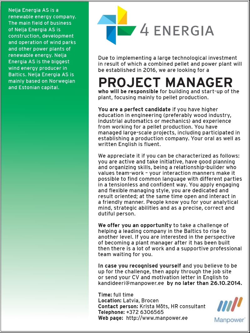 CV Market´s client Project Manager