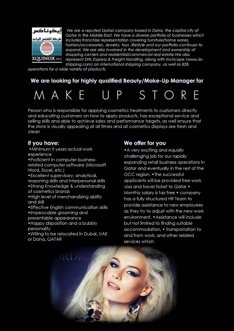 CV Market´s client Beauty / Make Up Manager