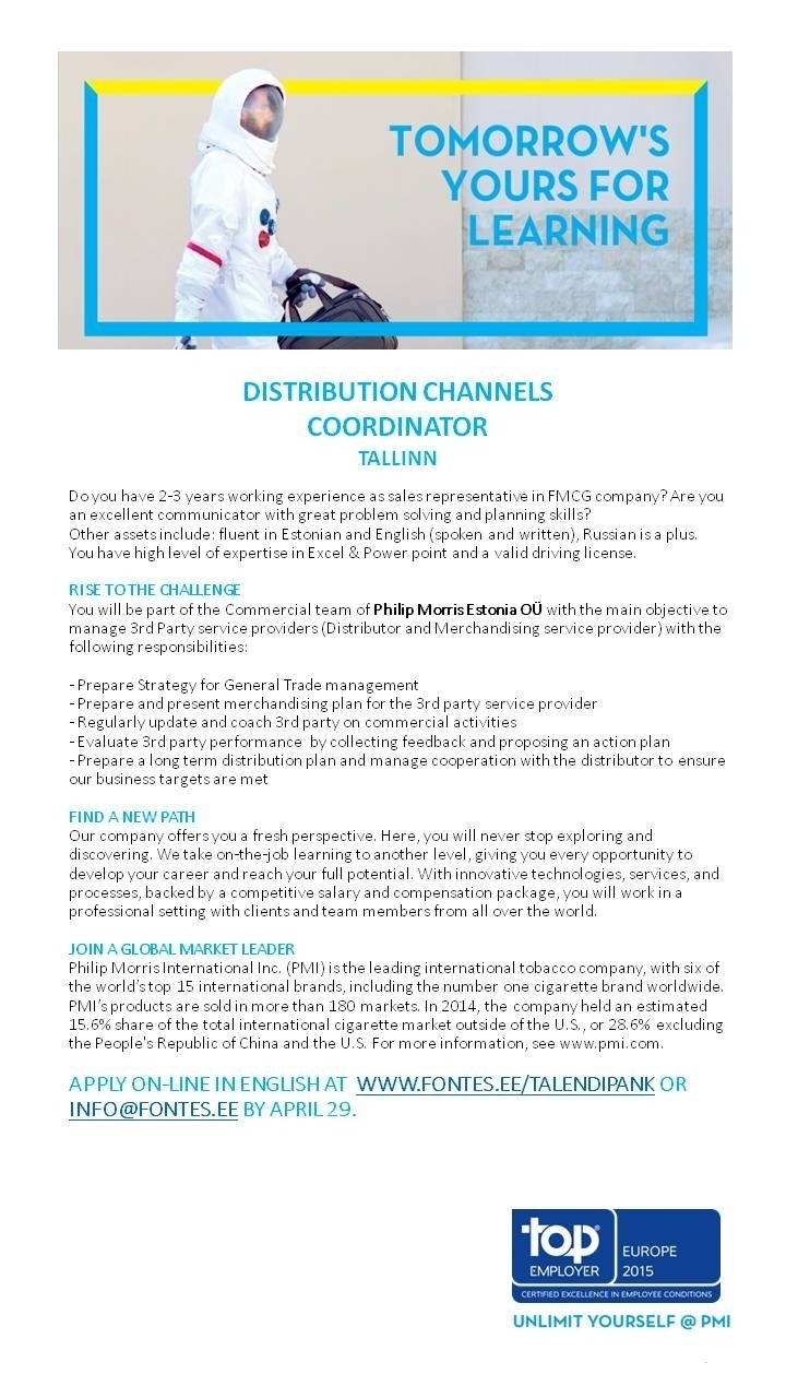 CVKeskus.ee client Distribution Channels Coordinator