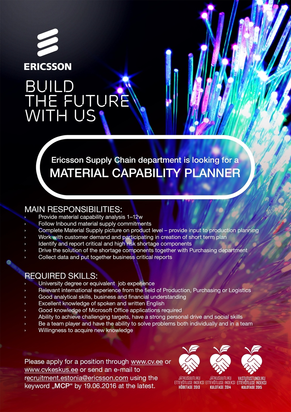 CV Market´s client MATERIAL CAPABILITY PLANNER