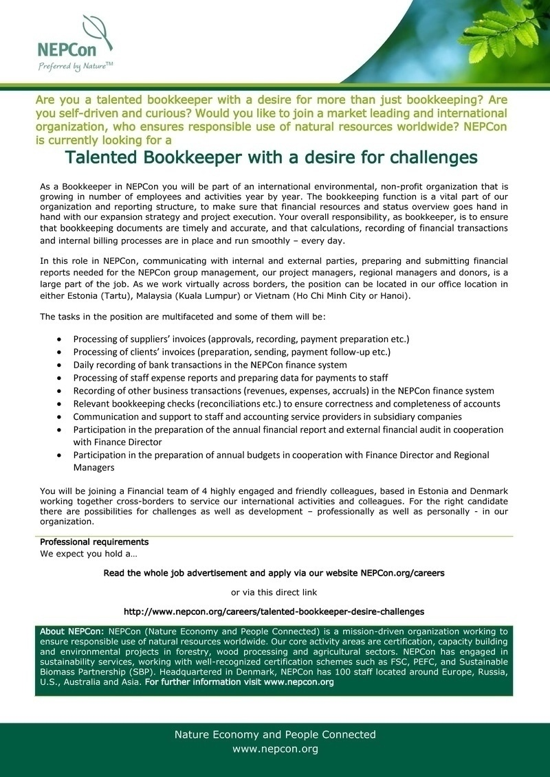 CV Market´s client bookkeeper
