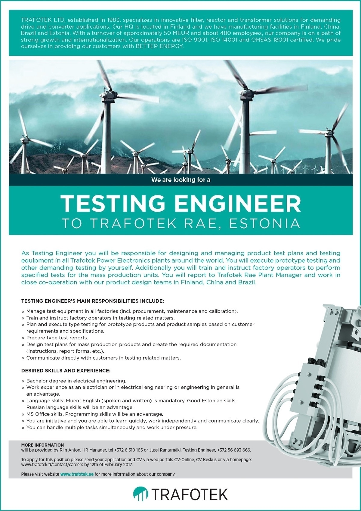 CV Market´s client TESTING ENGINEER