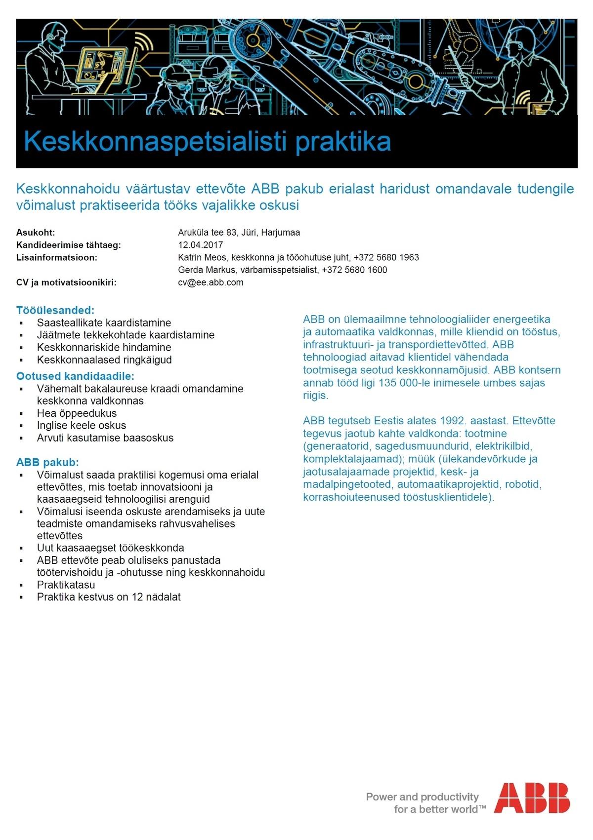 9d5e6e6dd92 CV Keskus tööpakkumine Keskkonnaspetsialisti praktika
