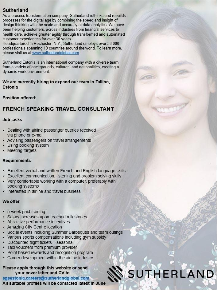 French Speaking Travel Jobs