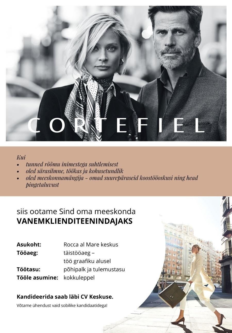 73c634510b2 Firma nimi peidetud Cortefiel kaupluse vanemklienditeenindaja (Rocca al  Mare Kaubanduskeskus)