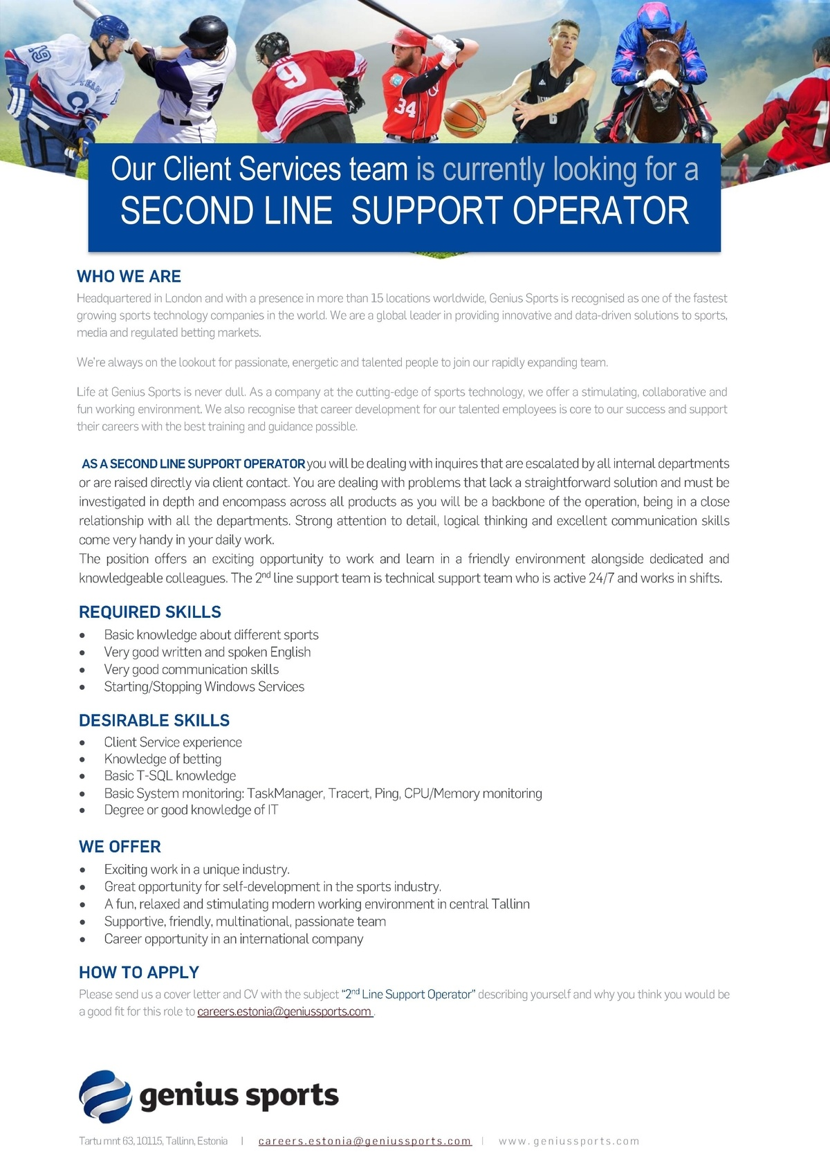 CVKeskus.ee client Second Line Support Operator