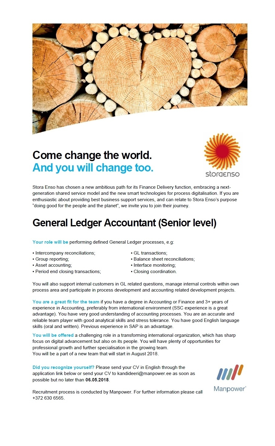 CVKeskus.ee client General Ledger Accountant (Senior level)