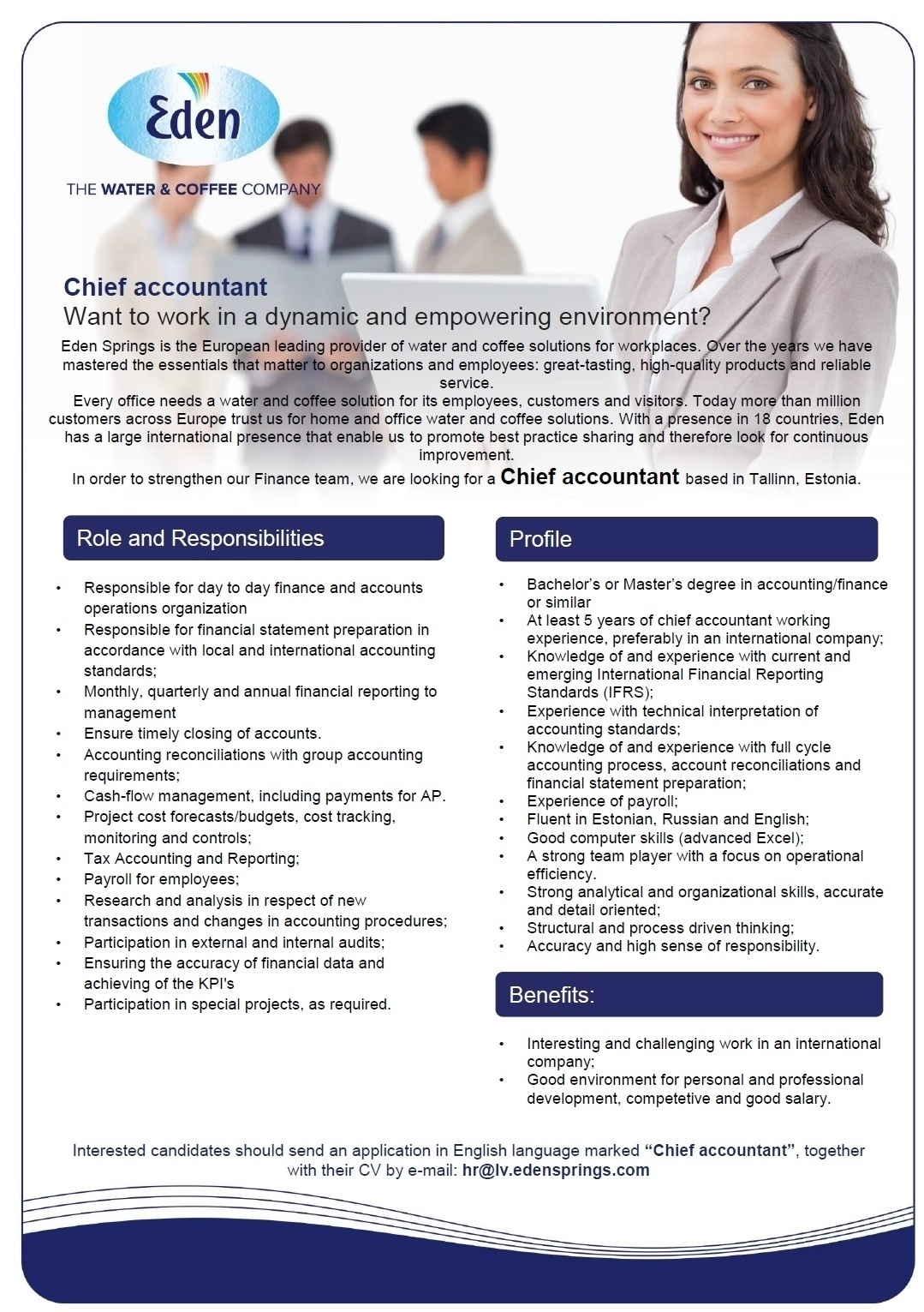 CV Market´s client Chief Accountant