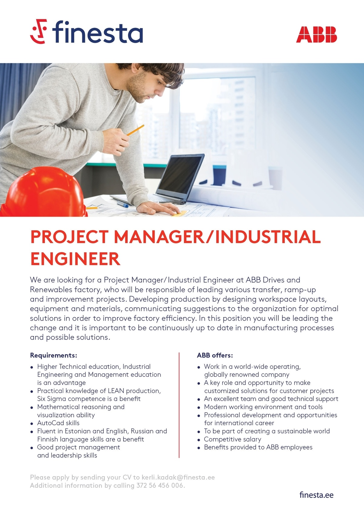 Firma nimi peidetud Project Manager/Industrial Engineer