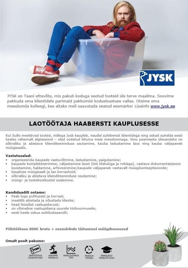 757b3afbbb8 CV Keskus tööpakkumine Müüja-Laotöötaja Tallinna Haabersti Jyski