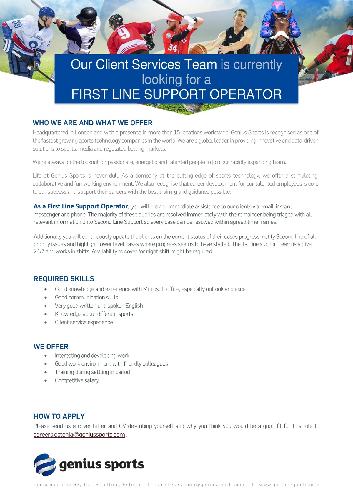 CV Market´s client First Line Support Operator (FIXED TERM)
