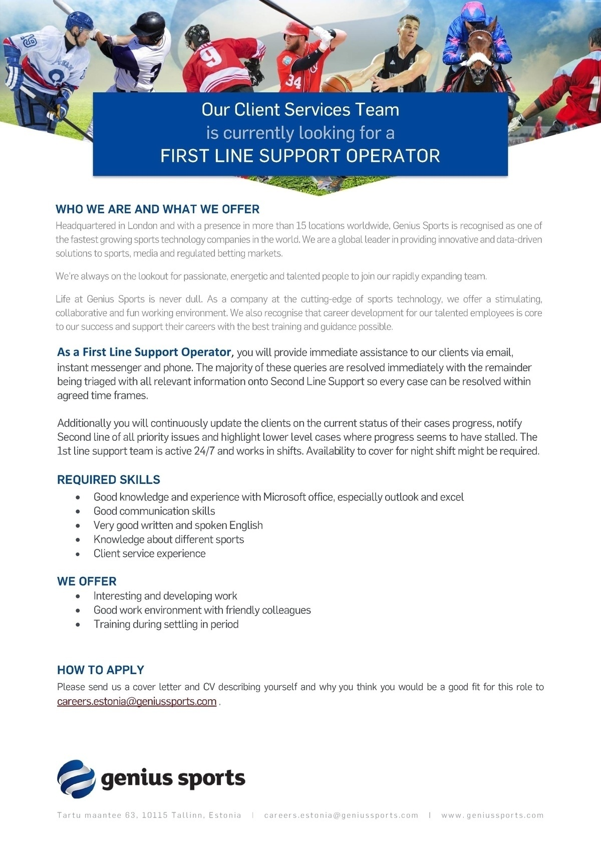 CVKeskus.ee client First Line Support Operator