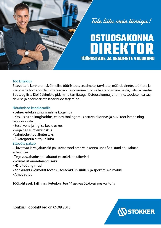 7df2d2518e1 Firma nimi peidetud Ostuosakonna direktor (tööriistade ja seadmete valdkond)