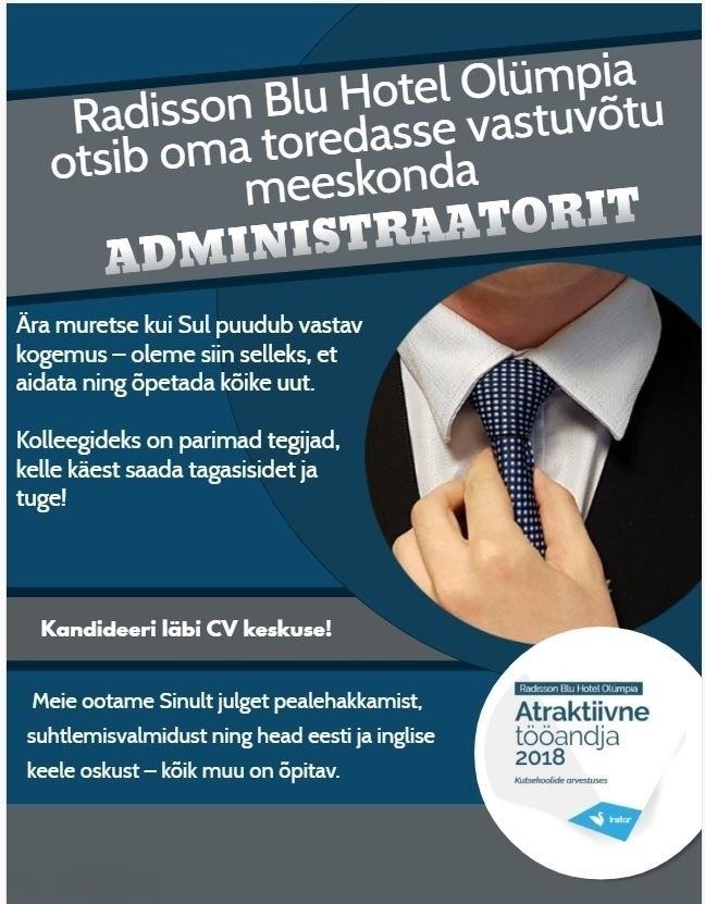 91b6dfc8903 CV Keskus tööpakkumine Vastuvõtuadministraator