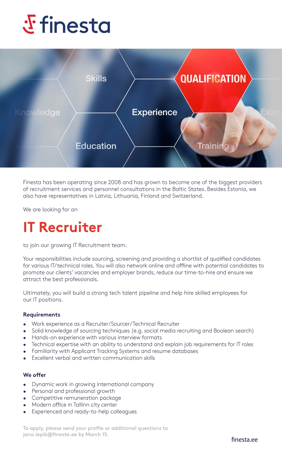 CV Market´s client IT Recruiter
