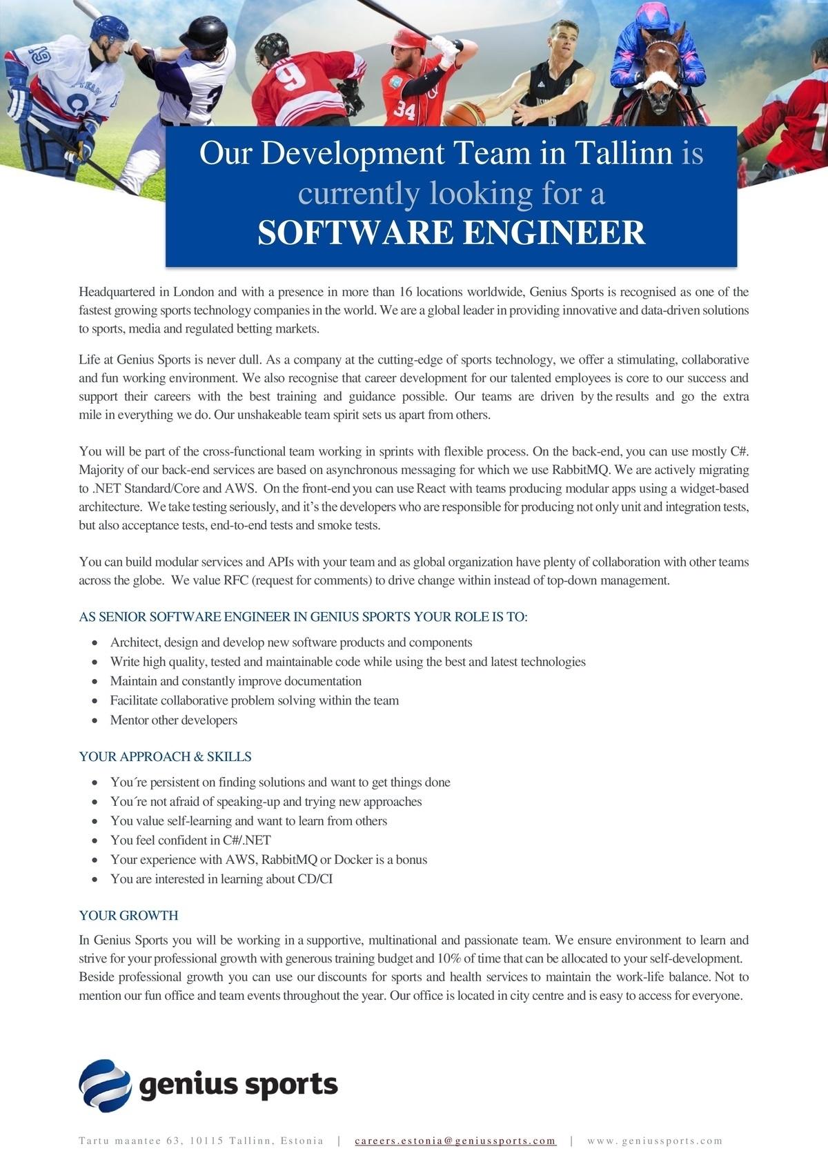 CV Keskus tööpakkumine Software engineer
