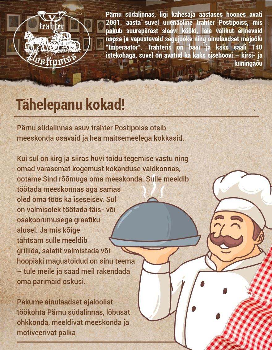 SOIMA OÜ kokk