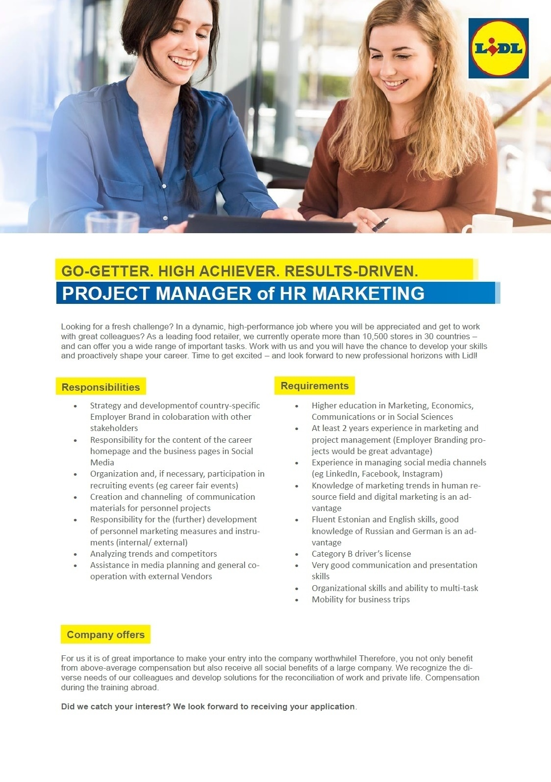 CV Market´s client Project Manager of HR Marketing
