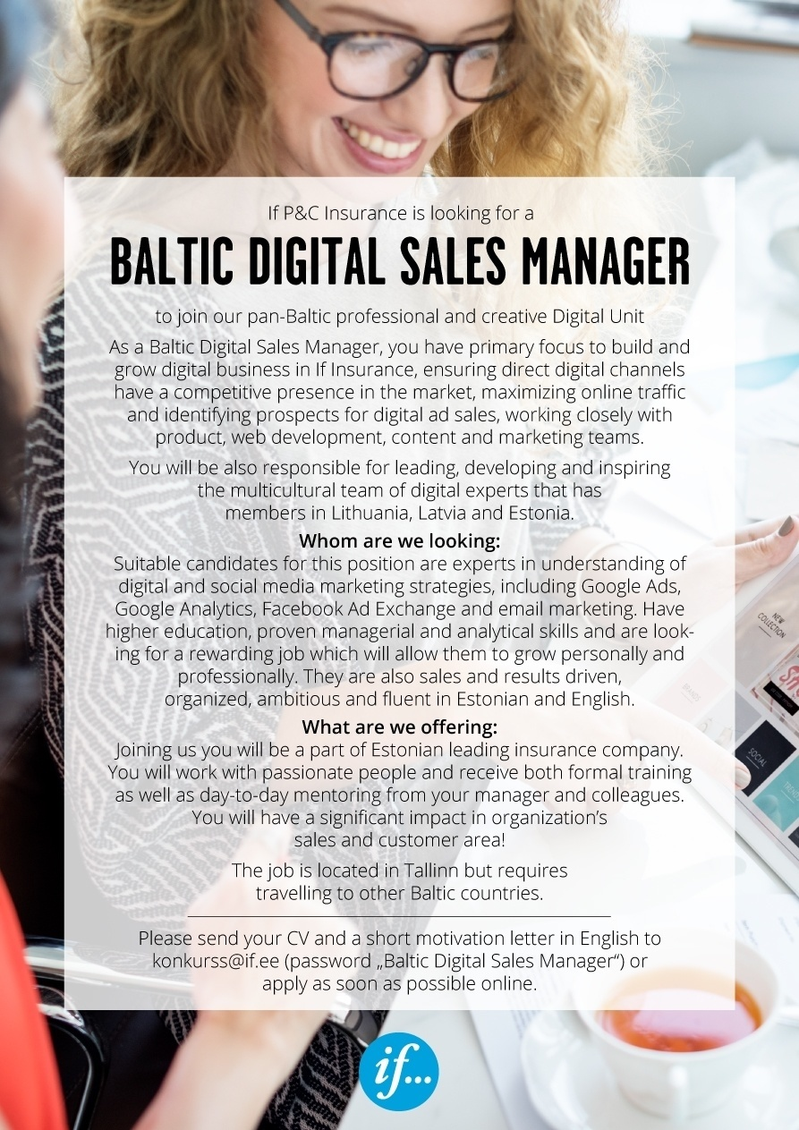 CV Market´s client Baltic Digital Sales Manager