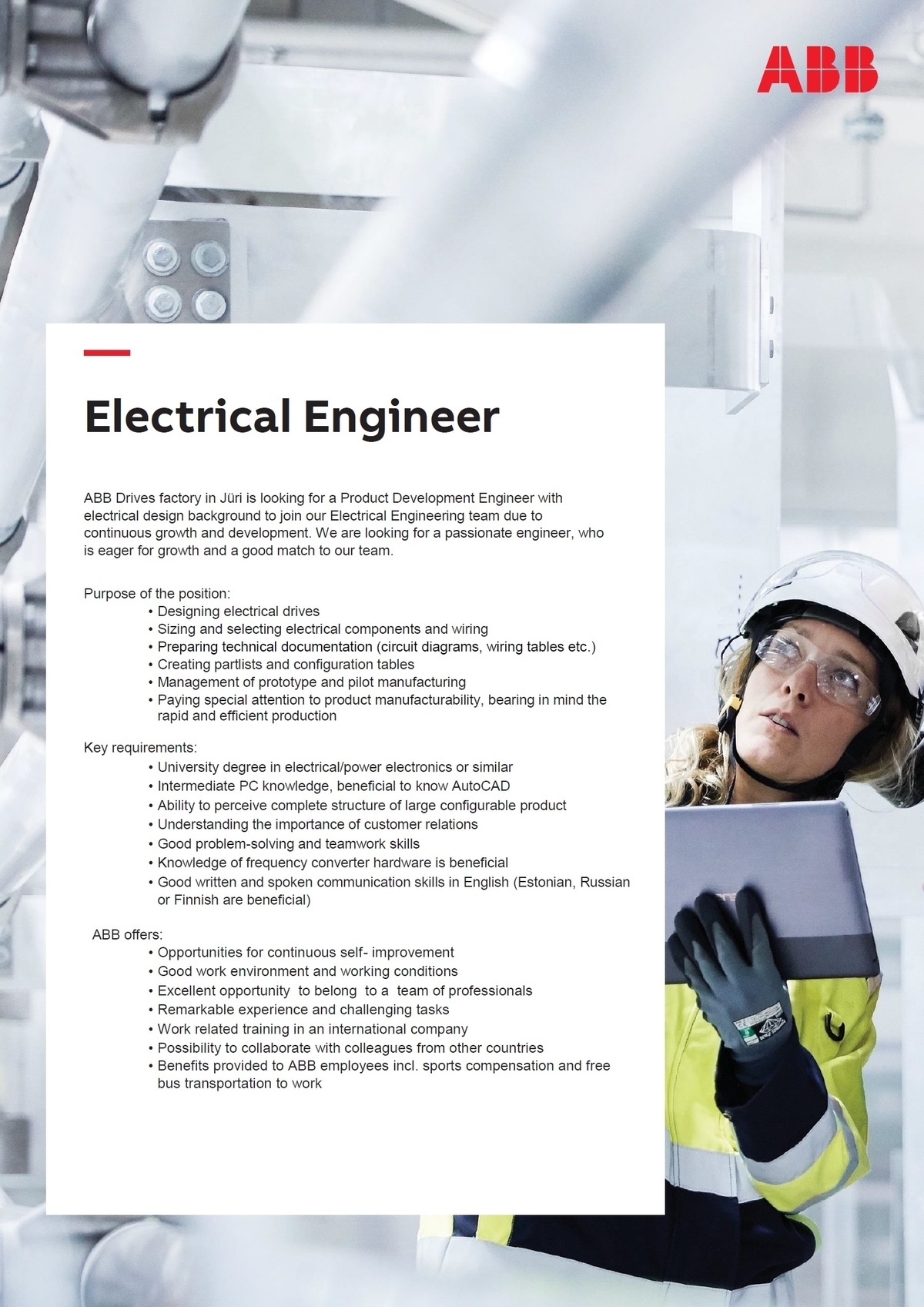 CV Market´s client Electrical Engineer