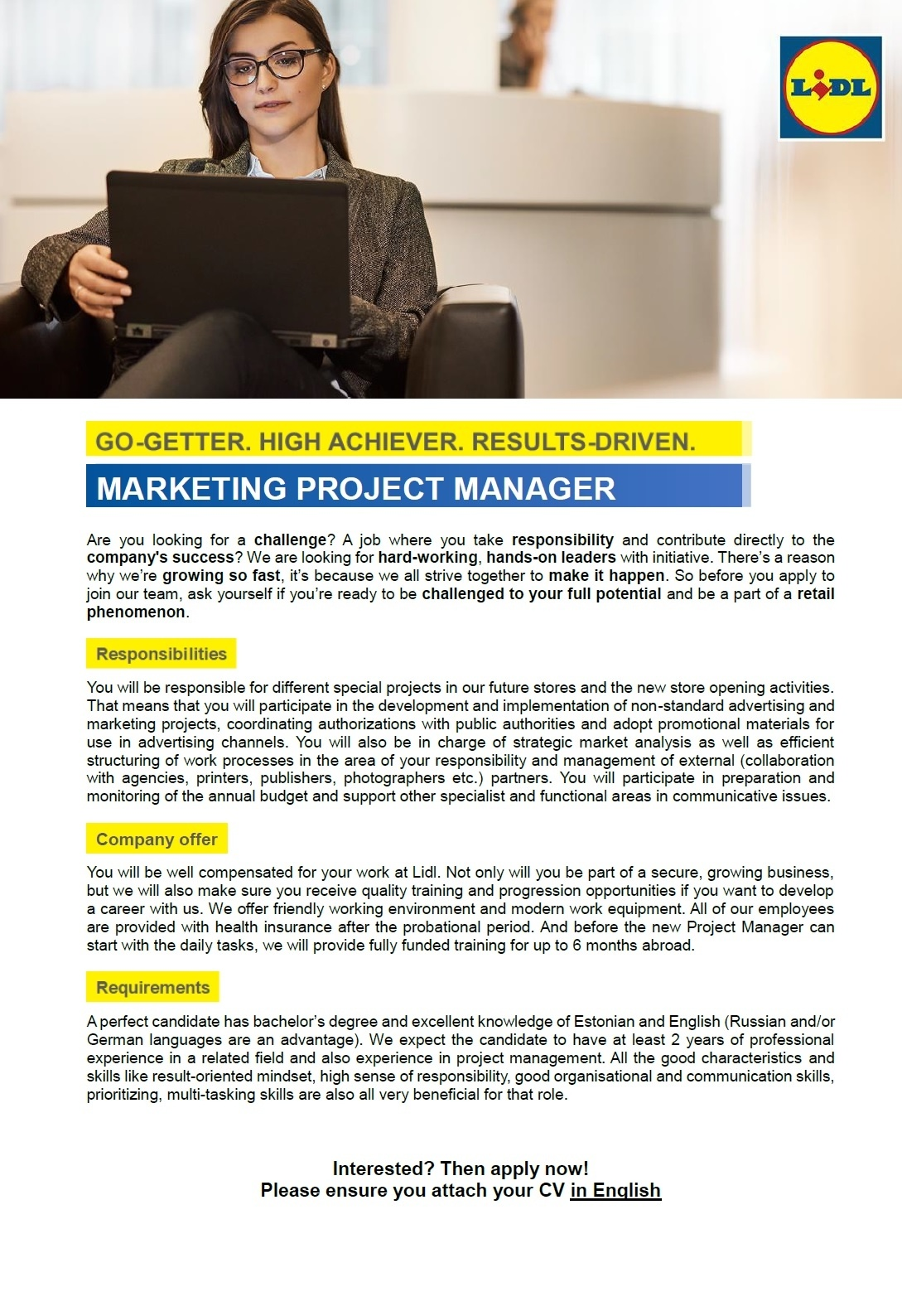 CV Market´s client Marketing Project Manager