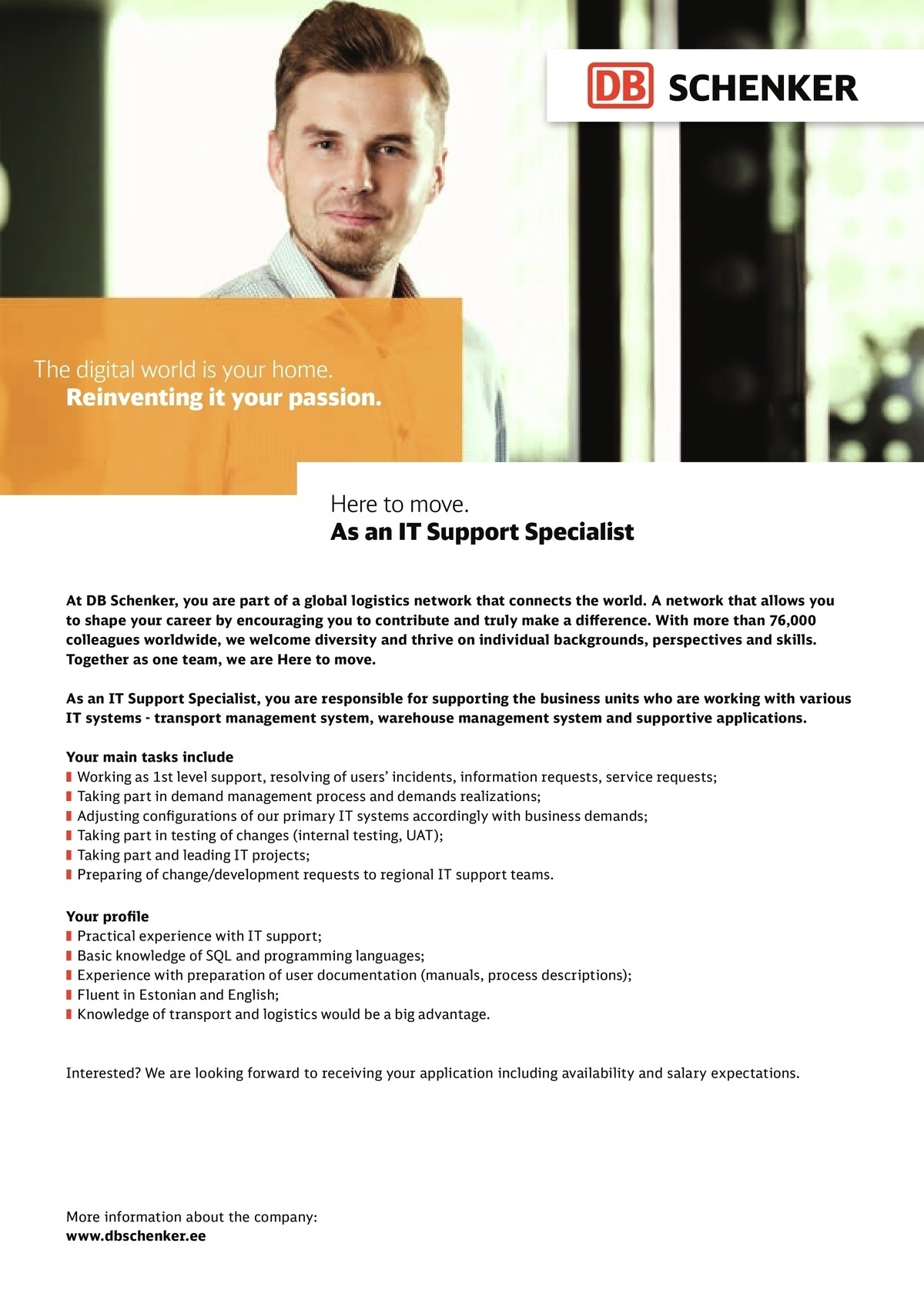 CV Market´s client IT support specialist