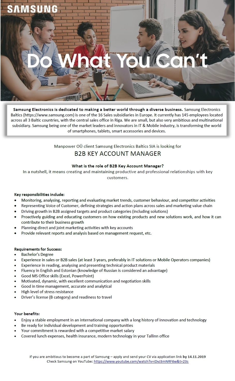 CVKeskus.ee client B2B KEY ACCOUNT MANAGER